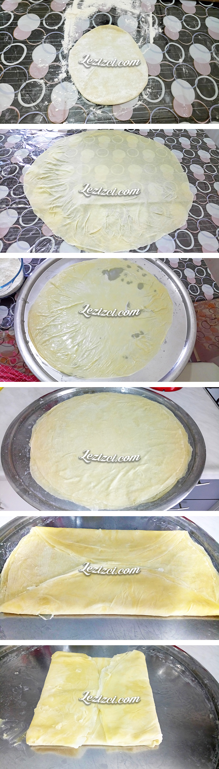 El Açması Kıymalı Rulo Böreğin Hamuru Nasıl Hazırlanır