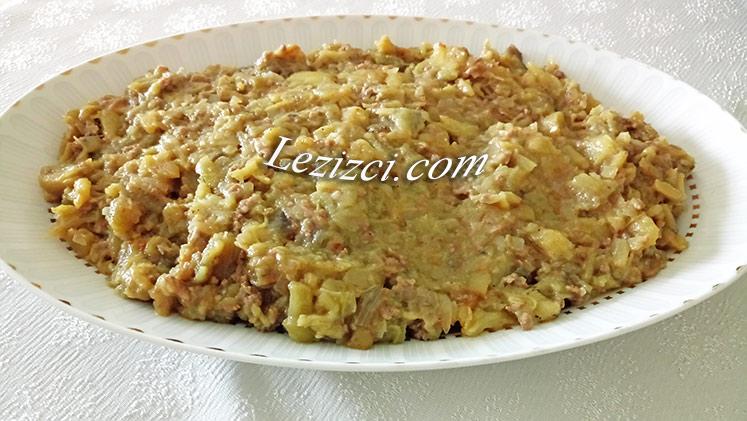 kıymalı közlenmiş patlıcanlı börek harcı