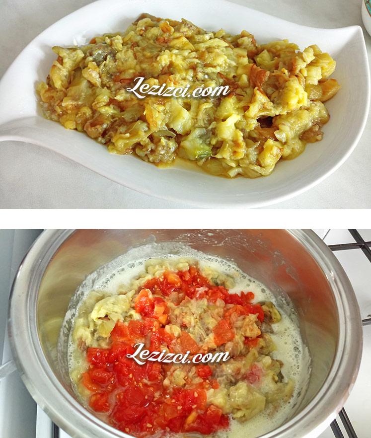 Domatesli Közlenmiş Patlıcan Çorbası Nasıl Yapılır?