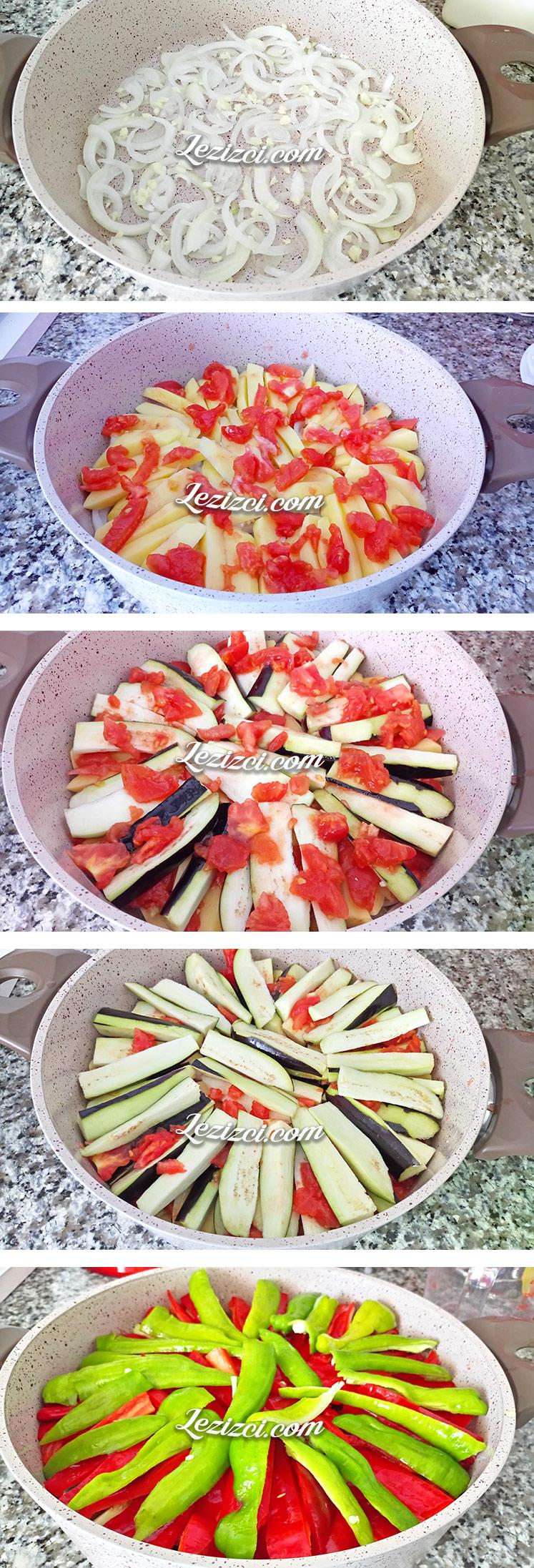 Zeytinyağlı Patatesli Patlıcan Dizme Nasıl Yapılır?
