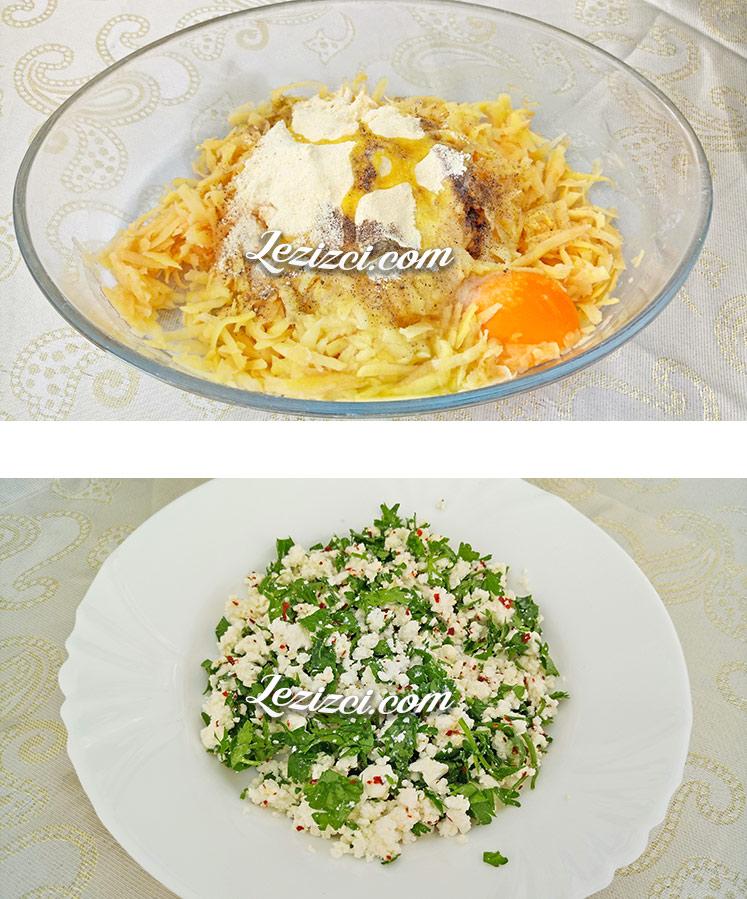 Tavada kahvaltılık peynirli patates böreği yapımı