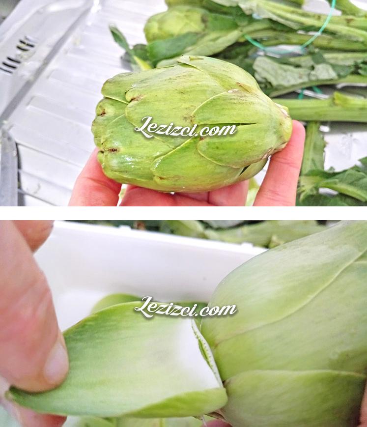 Zeytinyağlı Taze Enginar Yemeğinin Hazırlık Aşaması