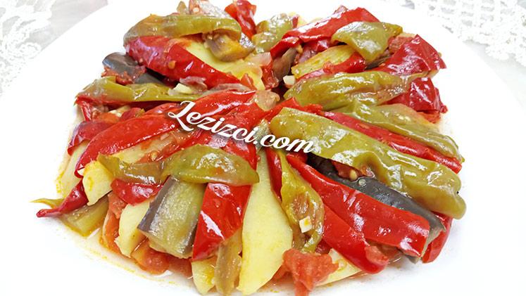 Zeytinyağlı Patatesli Patlıcan Dizme Tarifi