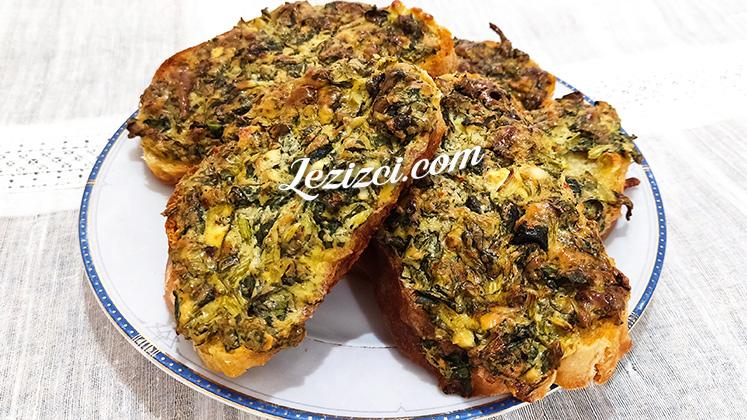 Fırında Kahvaltılık Ispanaklı Ekmek Tarifi