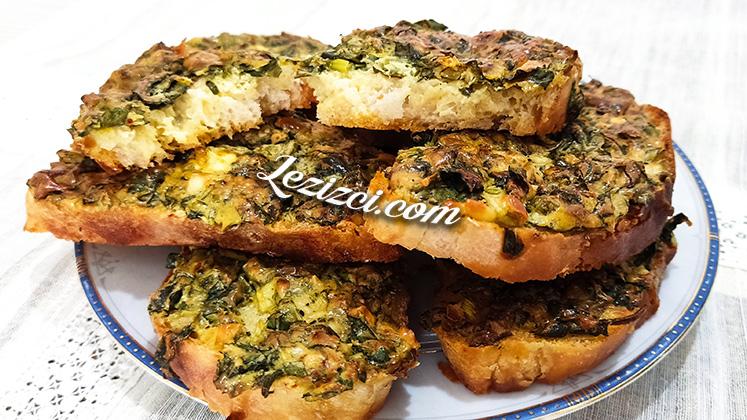 Fırında Kahvaltılık Ispanaklı Ekmek