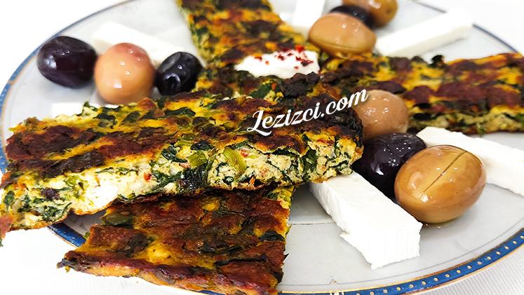 Börek Tadında Ispanaklı Omlet Tarifi