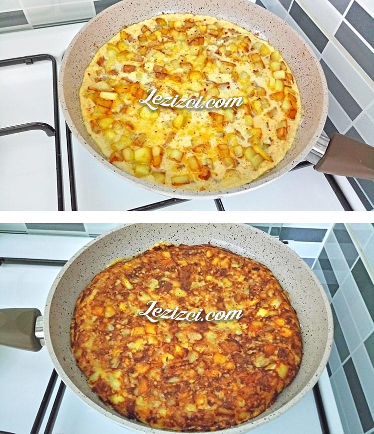 Küp Patatesli Omlet Nasıl Yapılır