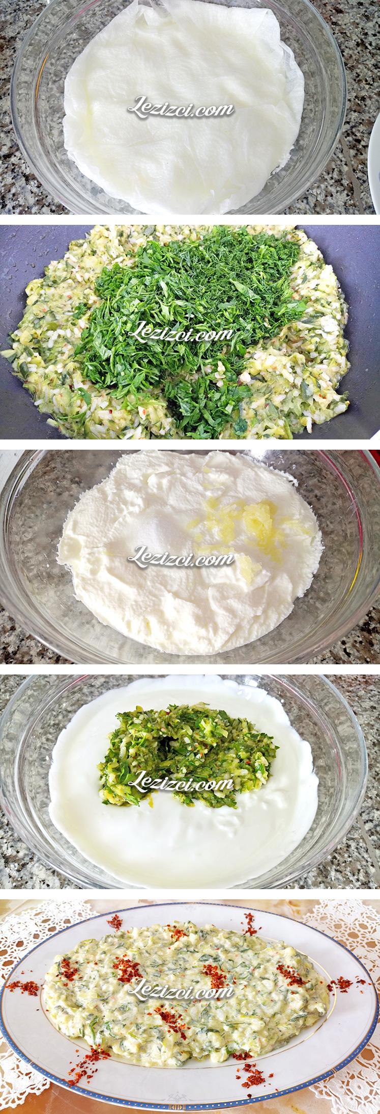 Yoğurtlu Pirinçli Kabak Salatası