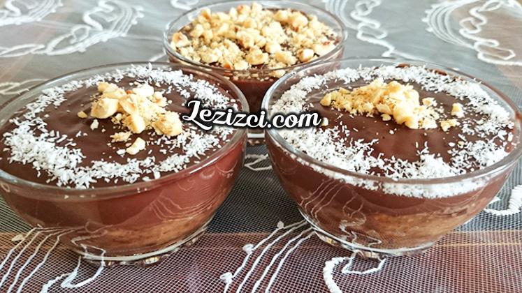 Elmalı Ve Bisküvili Kakaolu Puding Tarifi