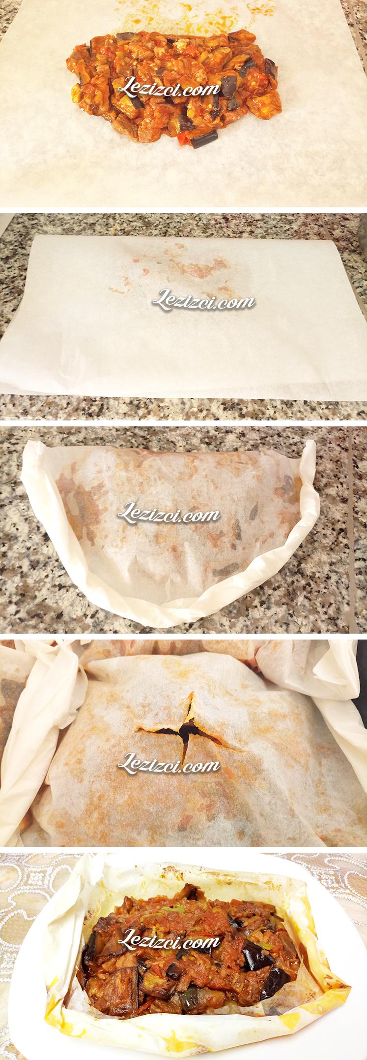 Fırında Kağıt Kebabının Yapılışı