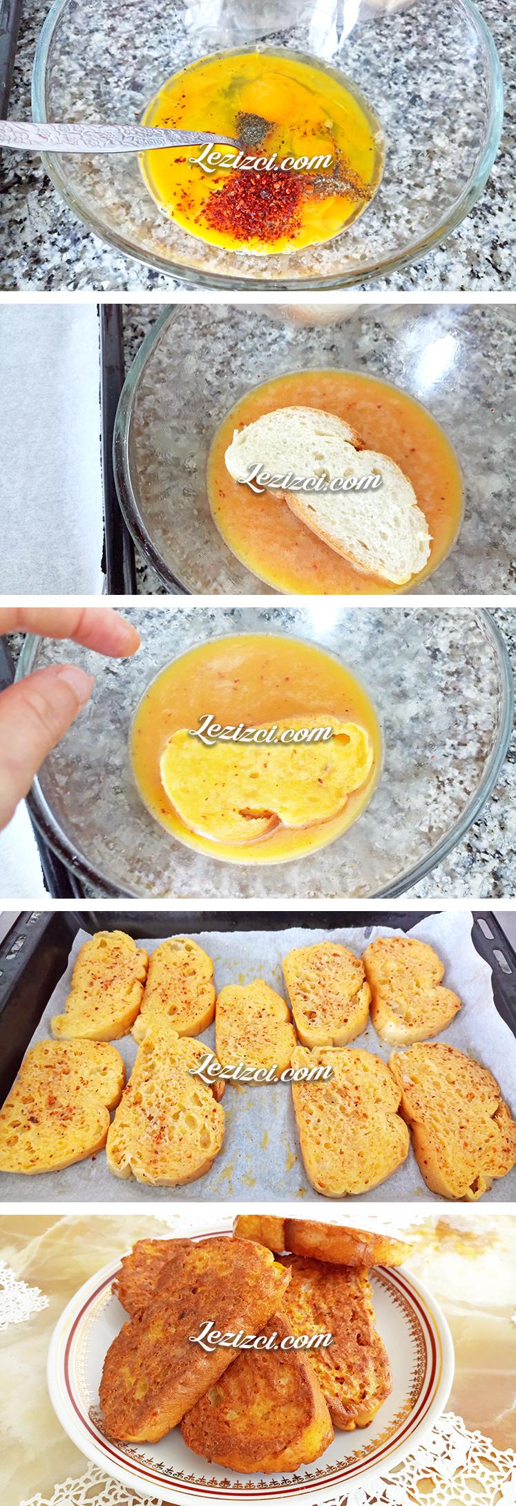 Fırında Yumurtalı Ekmek Nasıl Yapılır