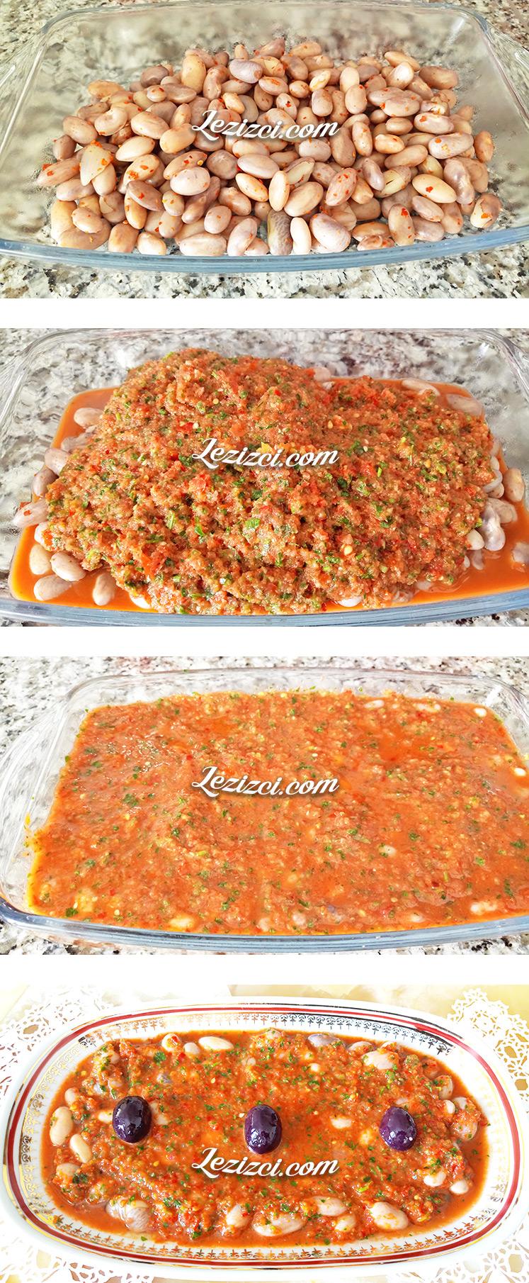 Soslu Taze Barbunya Salatası Yapımı