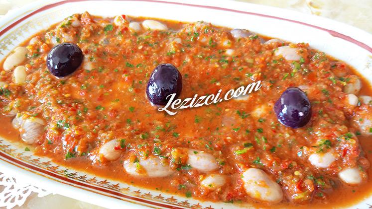 Soslu Taze Barbunya Salatası Tarifi