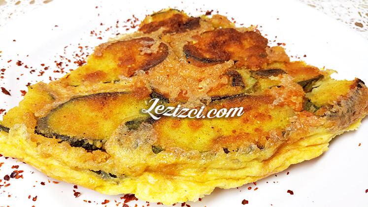 Tavada yumurtalı ve mısır unlu kabak kızartması tarifi