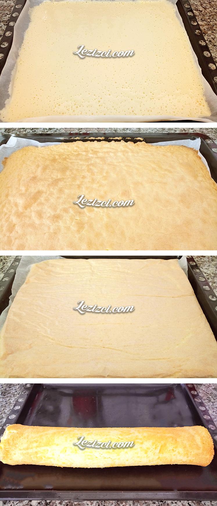 Elmalı Rulo Pasta Yapımı