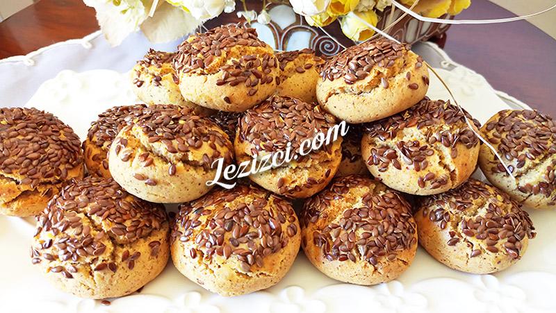 Kavrulmuş keten tohumlu kurabiye tarifi
