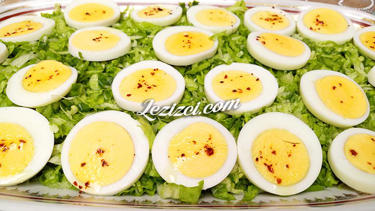 Yumurtalı Marul Salatası Tarifi