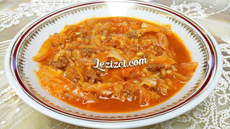 Etli Beyaz Lahana Yemeği – Kıymalı Kapuska Tarifi