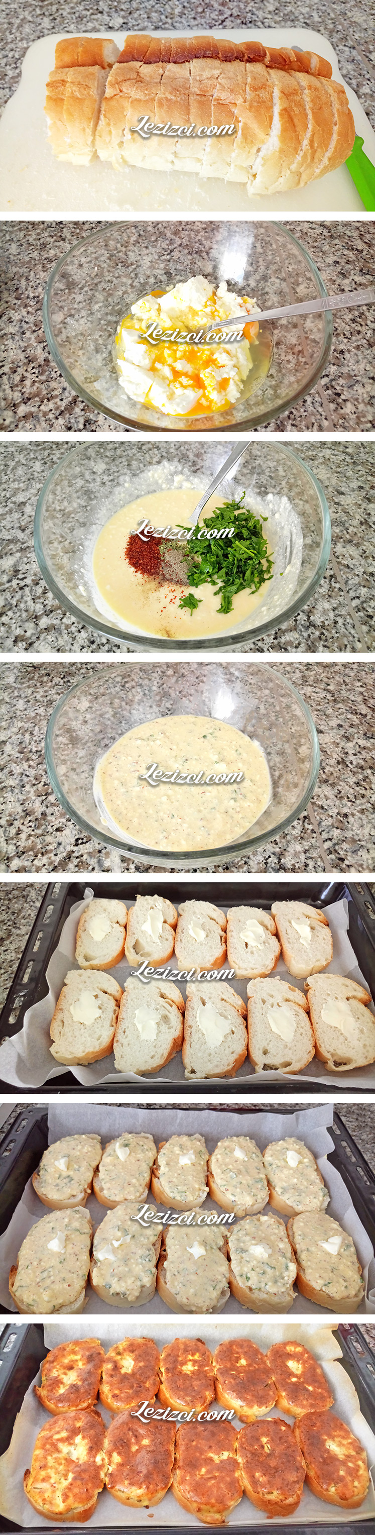 Fırında Tereyağlı Peynirli Ekmek Nasıl Yapılır