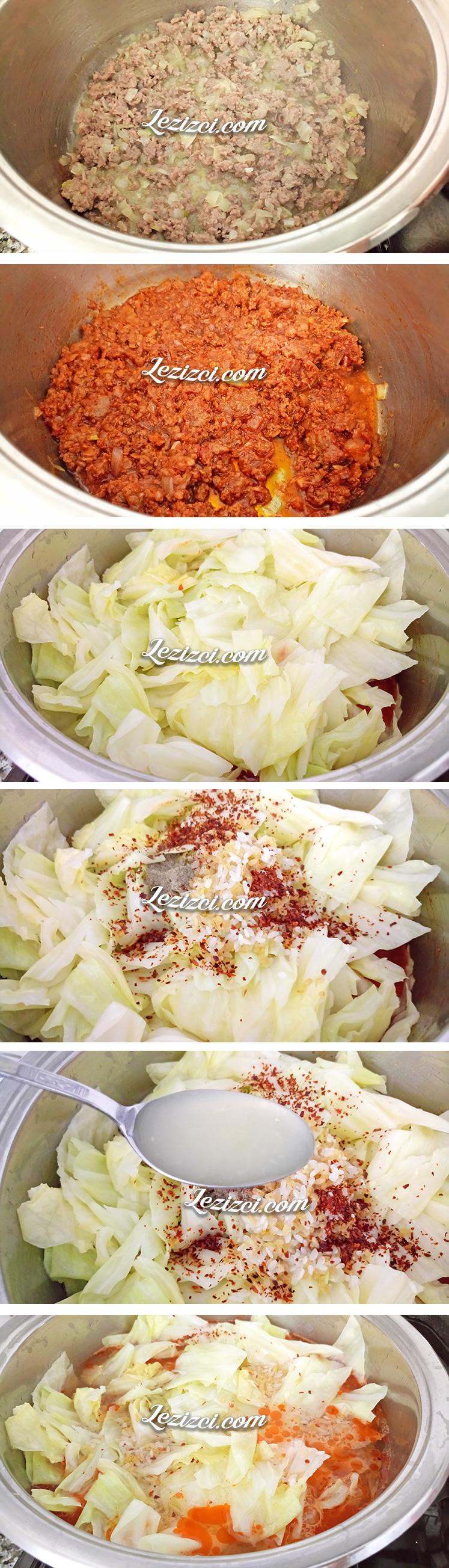 Kıymalı Lahana - Kapuska Yemeği Nasıl Yapılır