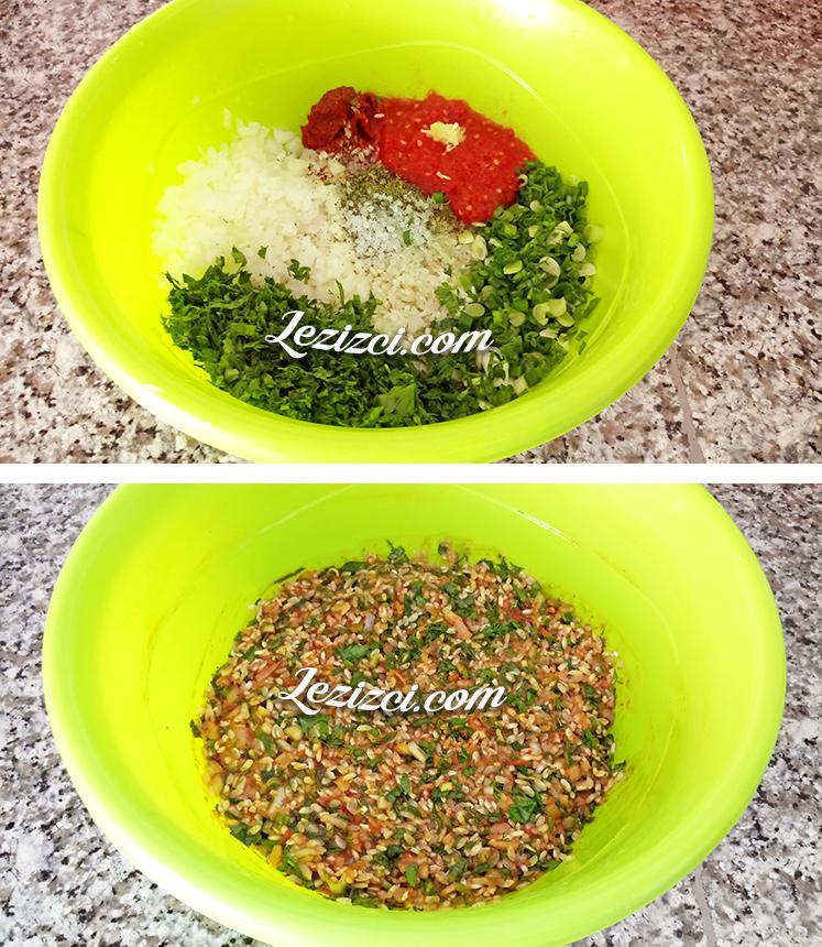 Zeytinyağlı Pirinçli Pazı Sarması İç Harcı