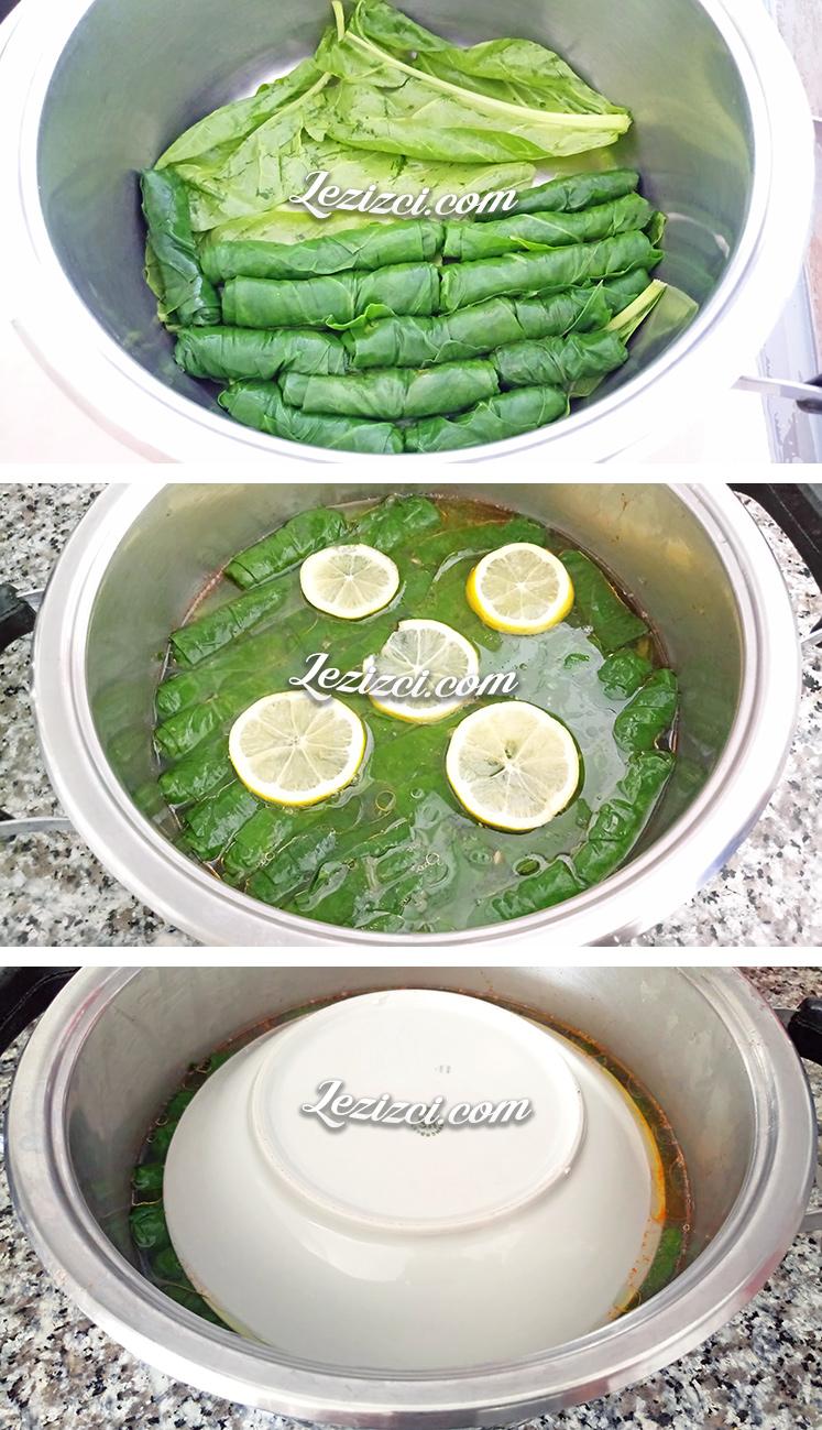 Zeytinyağlı pazı sarması nasıl pişirilir