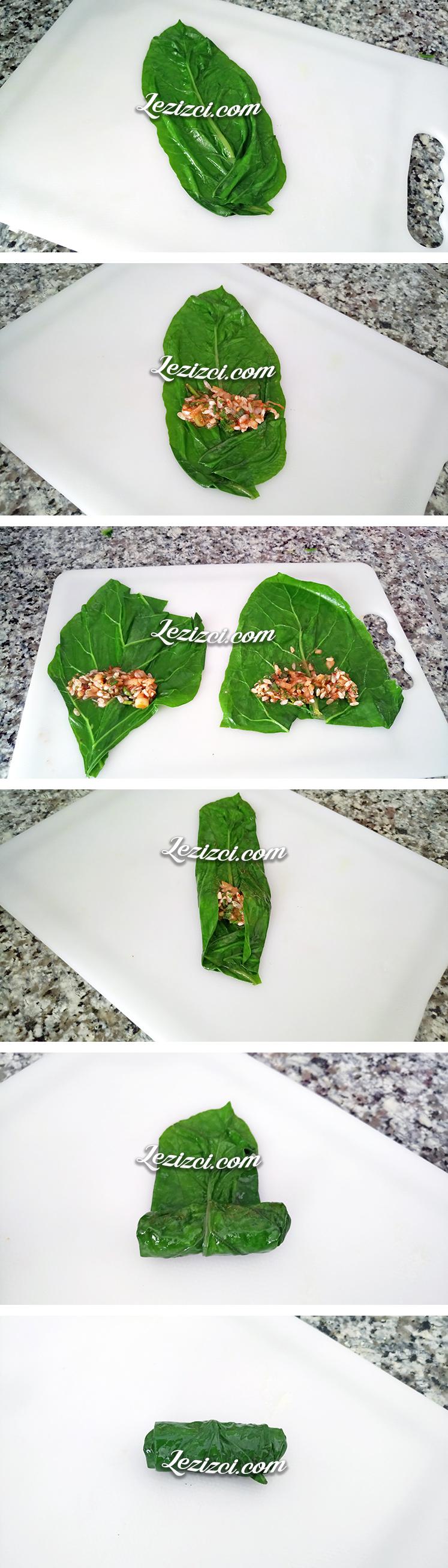 Zeytinyağlı pirinçli pazı sarması nasıl yapılır