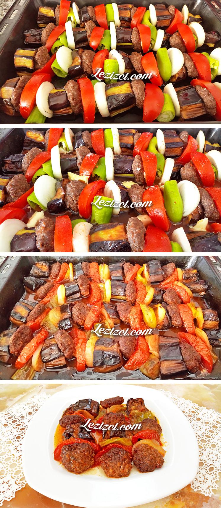 Köfteli Patlıcan Kebabının Yapılışı
