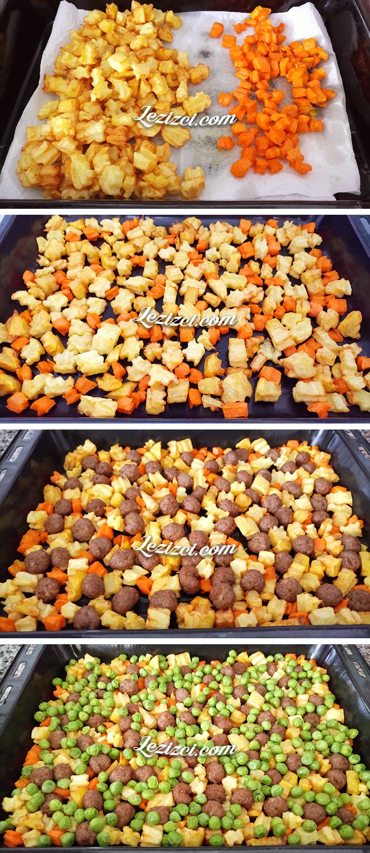 Fırında Sebzeli Misket Köfte Nasıl Yapılır