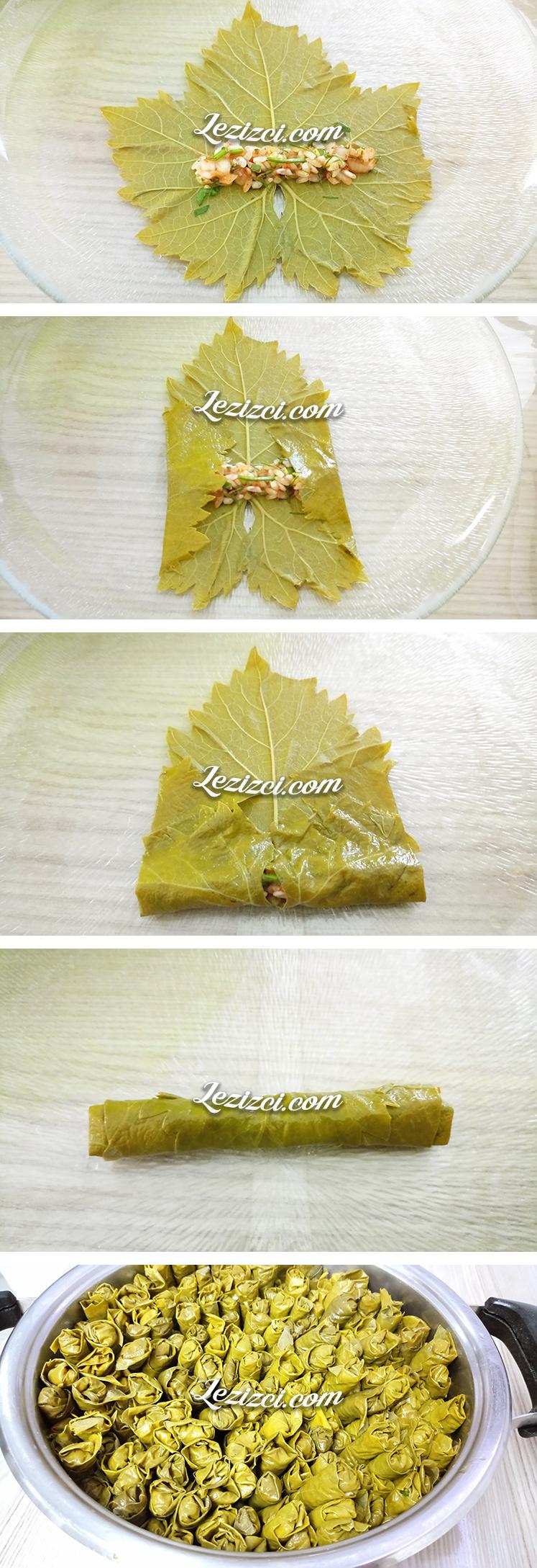 Zeytinyağlı Yaprak Sarması Nasıl Sarılır