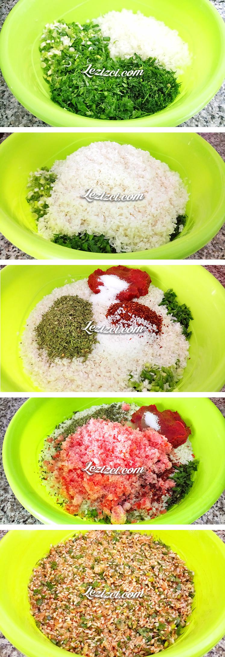 Zeytinyağlı Yaprak Sarması İçin İç Nasıl Hazırlanır
