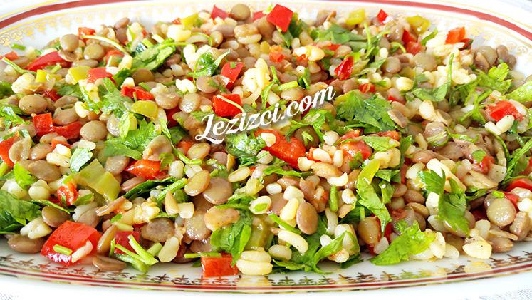 Bulgurlu Yeşil Mercimek Salatası Nasıl Yapılır?