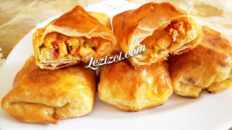Puf Puf Kabaran Hindi Etli Bohça Böreği