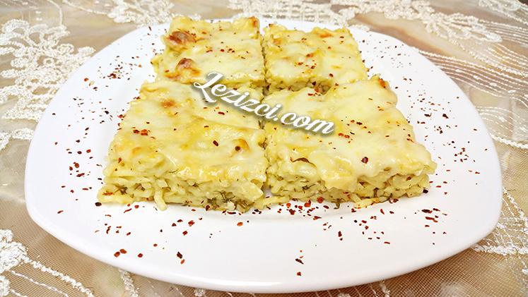 Fırında Beşamel Soslu Peynirli Makarna