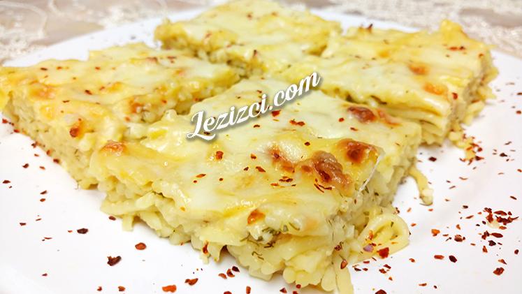 Börek Tadında Fırında Beşamel Soslu Peynirli Makarna Tarifi