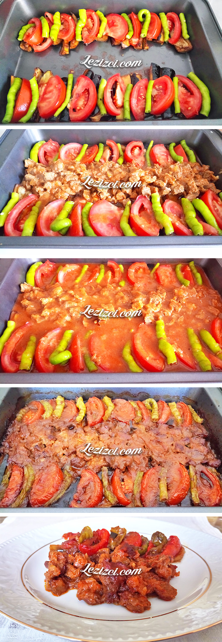 Fırında Patlıcanlı Parmak Kebabı Nasıl Yapılır