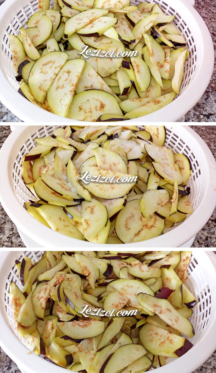 Patlıcan tiridinin yapılışı