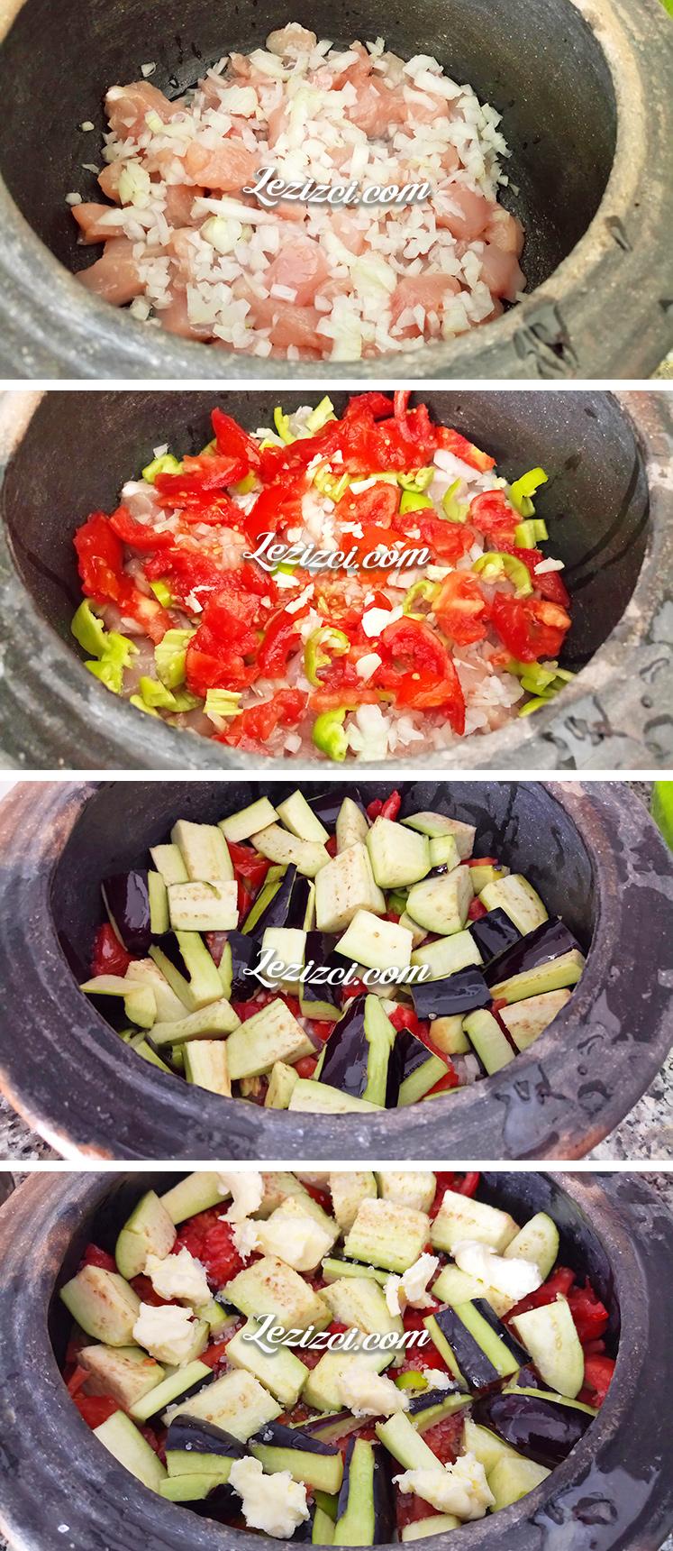 Güveçte Tavuklu Patlıcan Yemeği Nasıl Yapılır?