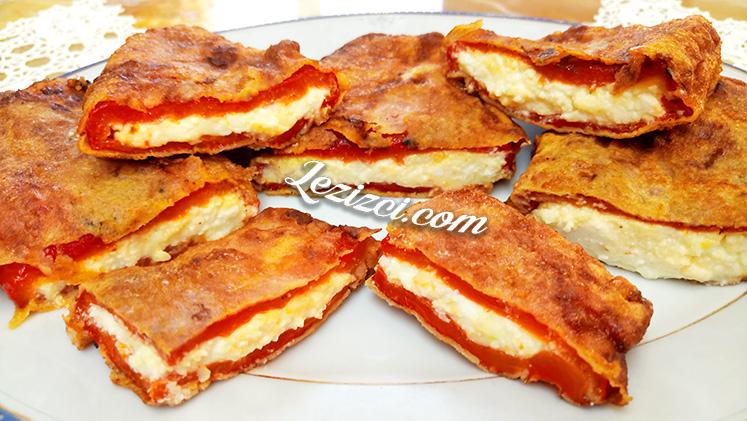 Peynir Dolgulu Közlenmiş Kırmızı Biber Kızartması Tarifi