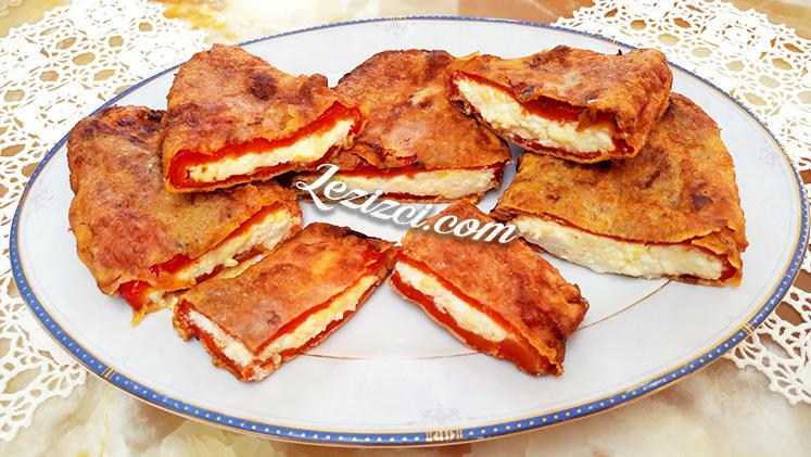 Peynir Dolgulu Közlenmiş Kırmızı Biber Kızartması