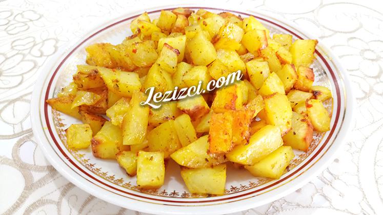Fırında Az Yağlı Baharatlı Küp Patates