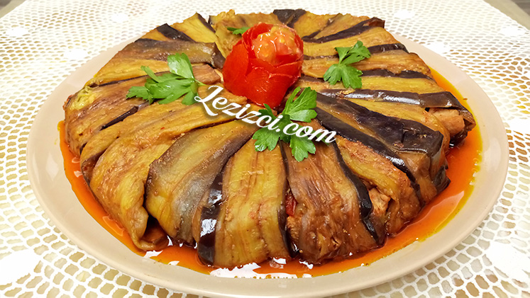 Fırında Tavuklu Patlıcan Kapama Tarifi