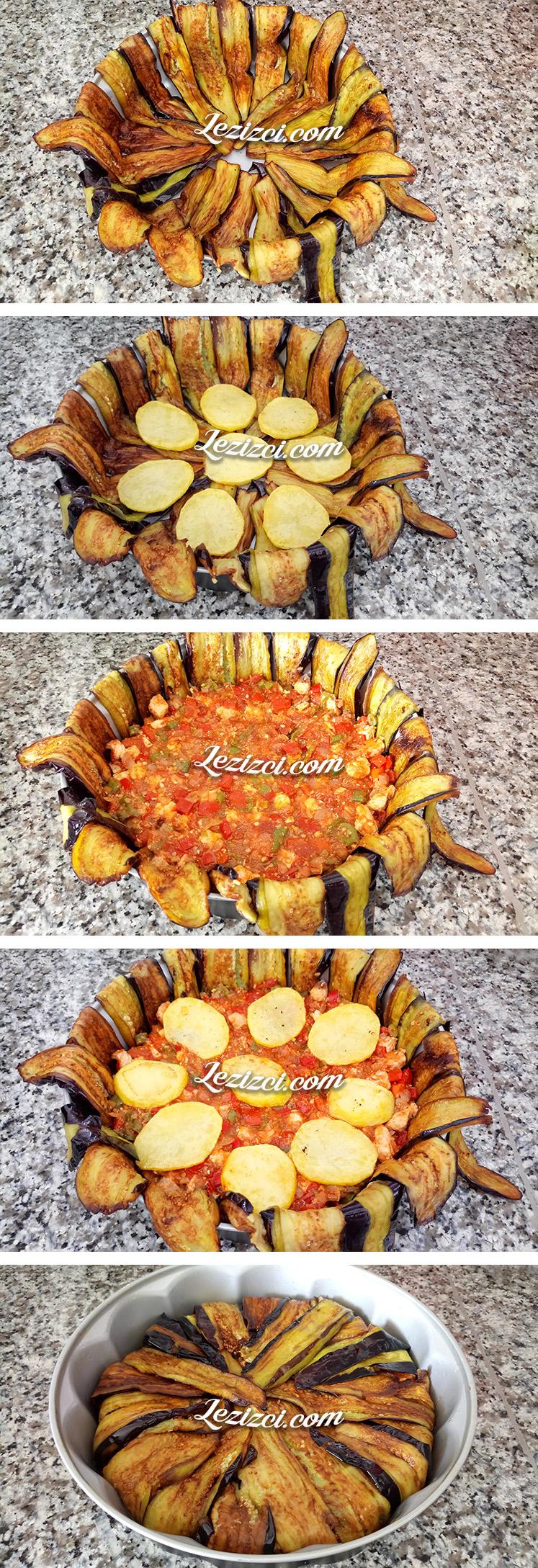 Fırında Tavuklu Patlıcan Kapama Nasıl Yapılır?