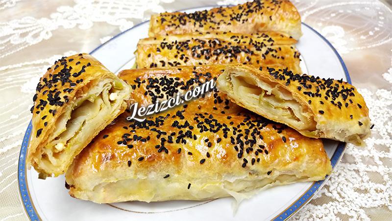 Pırasalı Peynirli Rulo Börek