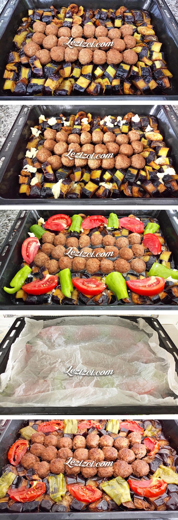 Fırında Tereyağlı Patlıcanlı Misket Köfte Nasıl Yapılır?