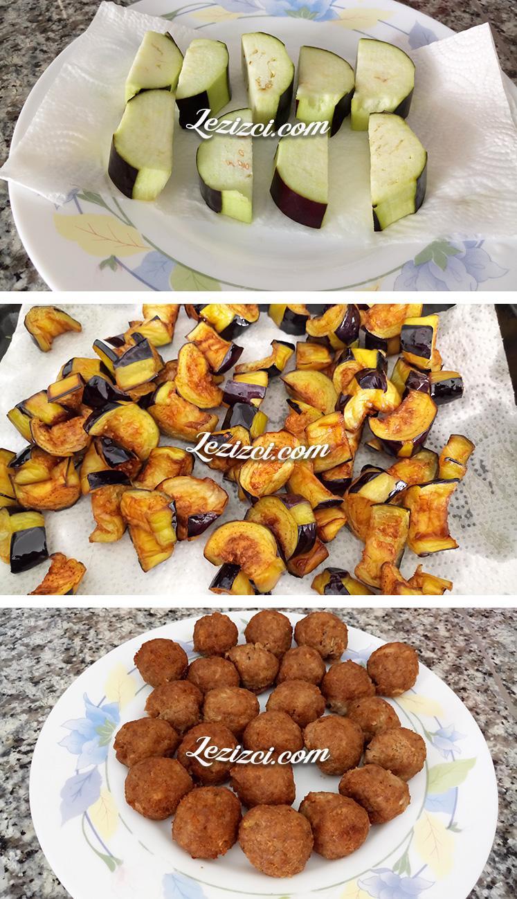 Patlıcanlı Misket Köfte Nasıl Yapılır