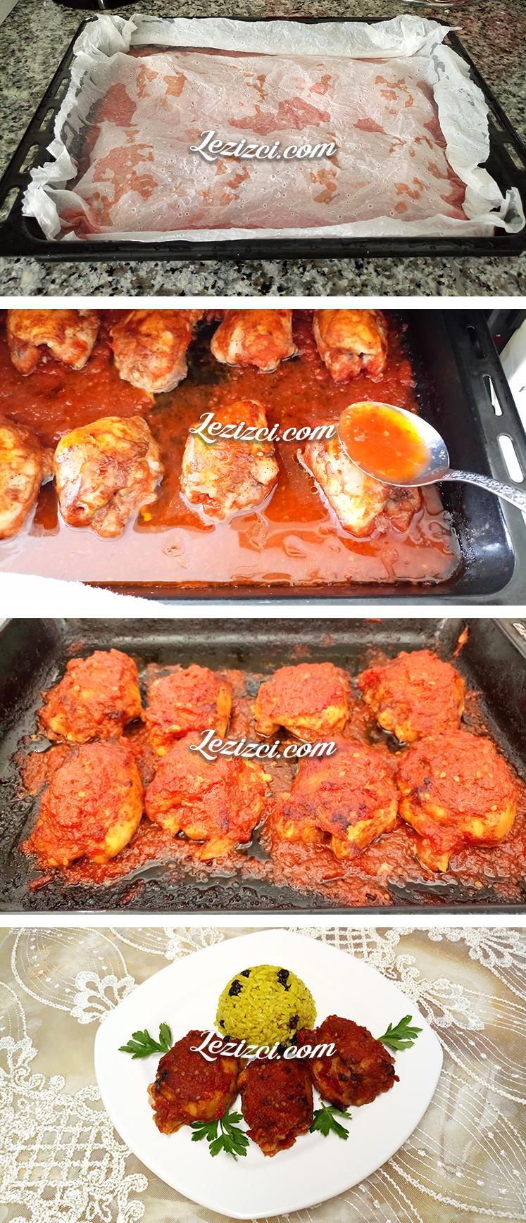 Fırında Domates Soslu Tavuk But Nasıl Pişirilir