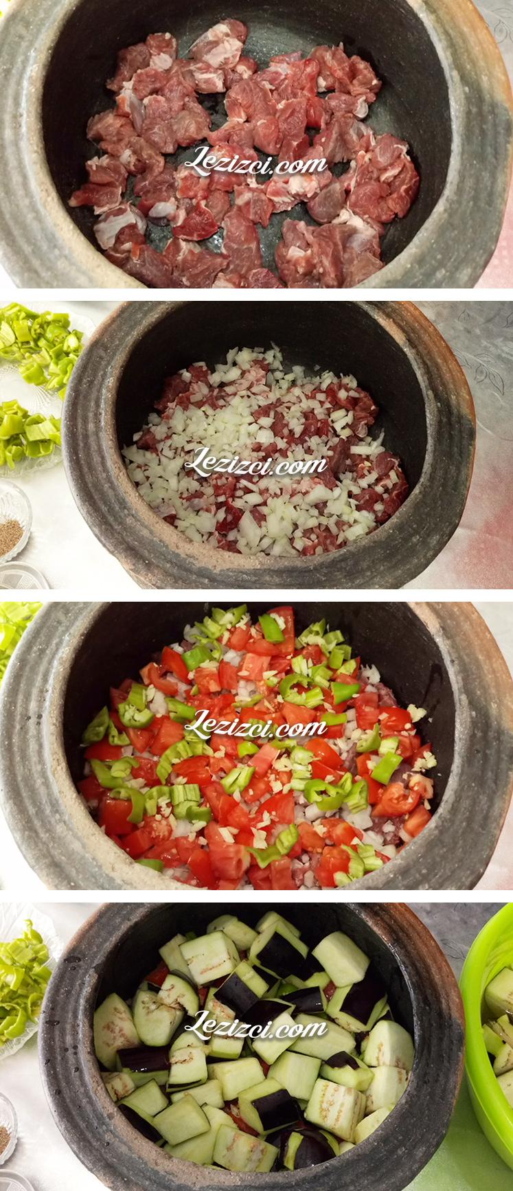 Etli Patlıcan Güveci Nasıl Yapılır